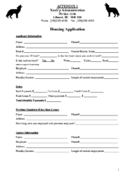 Xaxli'p Housing Application